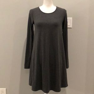 NWT old navy charcoal gray long sleeve dress small